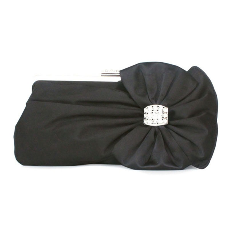 Ericdress Silk Bowknot Rhinestone Adornment Clutch