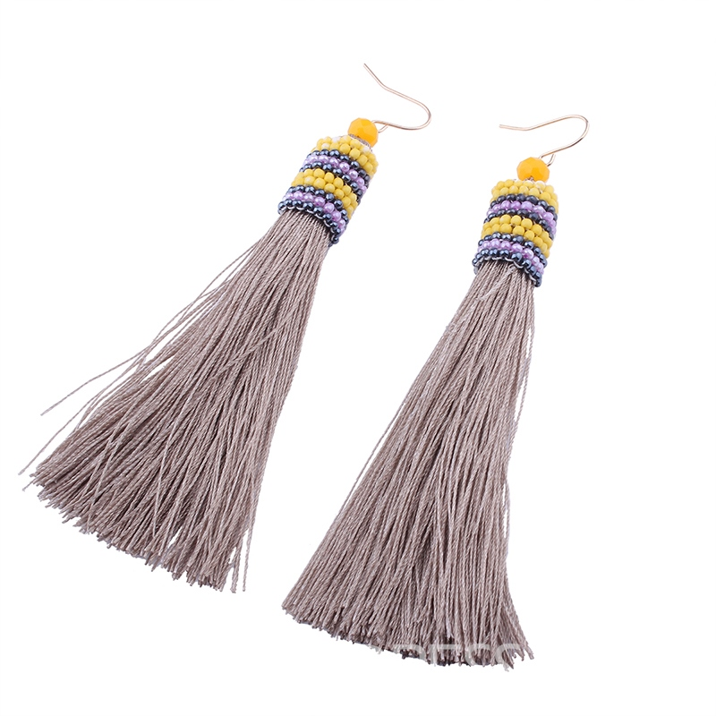 Ericdress Candy Color Tassel Fashionable Earring for Women