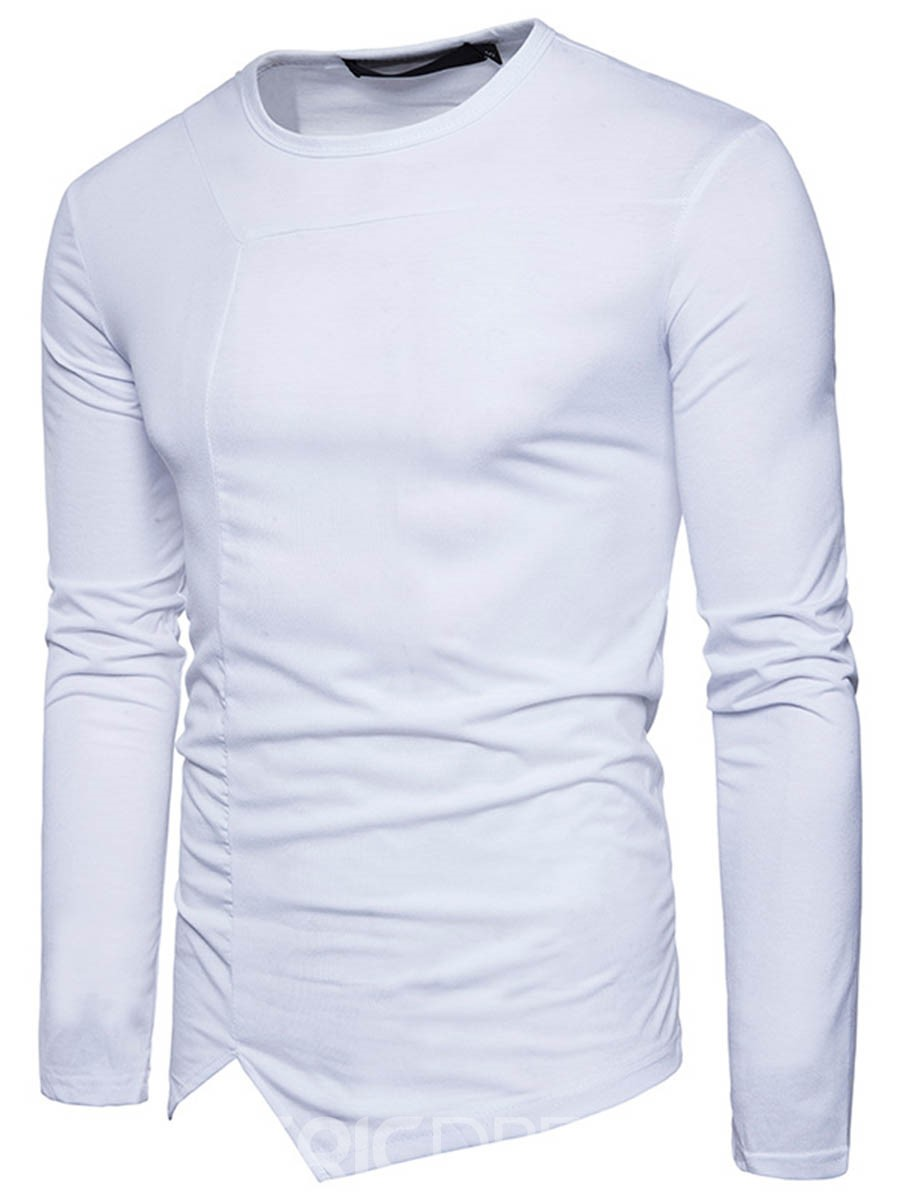 Ericdress Plain Long Sleeve Slim Men's T-Shirt