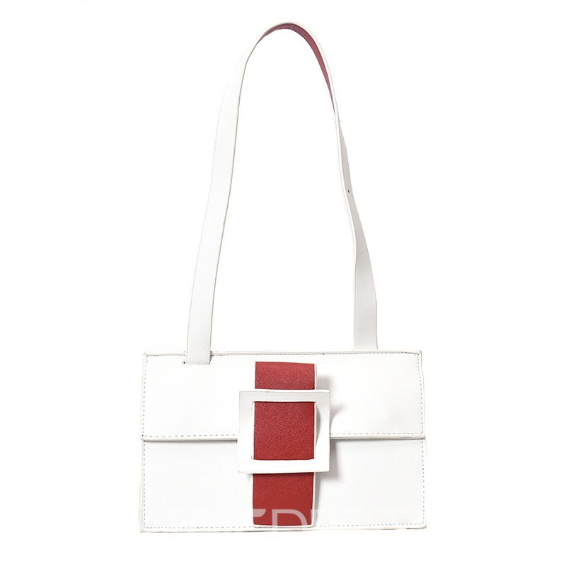 Ericdress Trendy Two-Sided Color Block Crossbody Bag