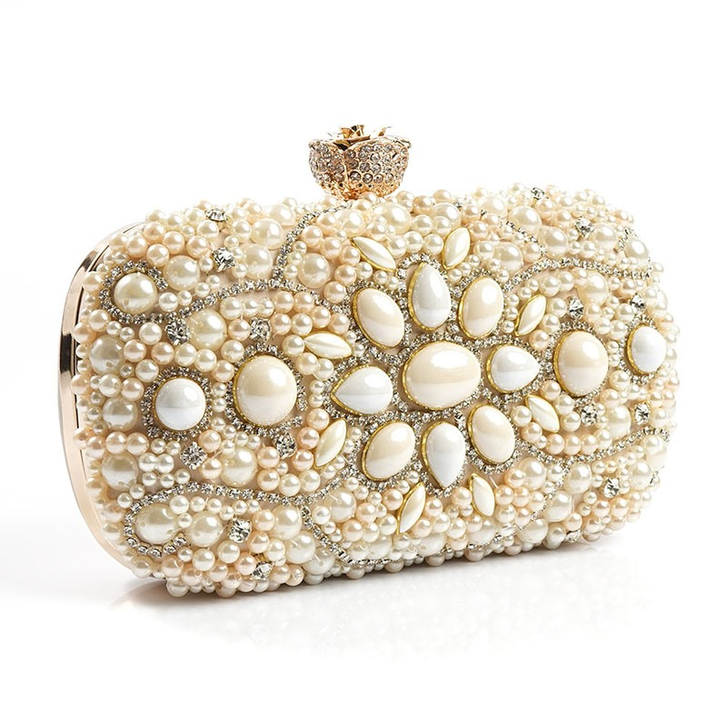 Ericdress Hand-Made Embroidered Pearl Evening Clutch