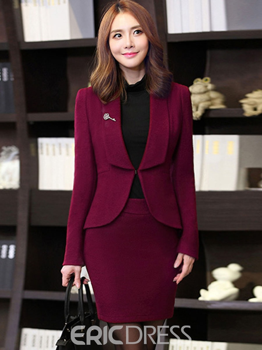 Ericdress Lapel Long Sleeves Bodycon Formal Suits