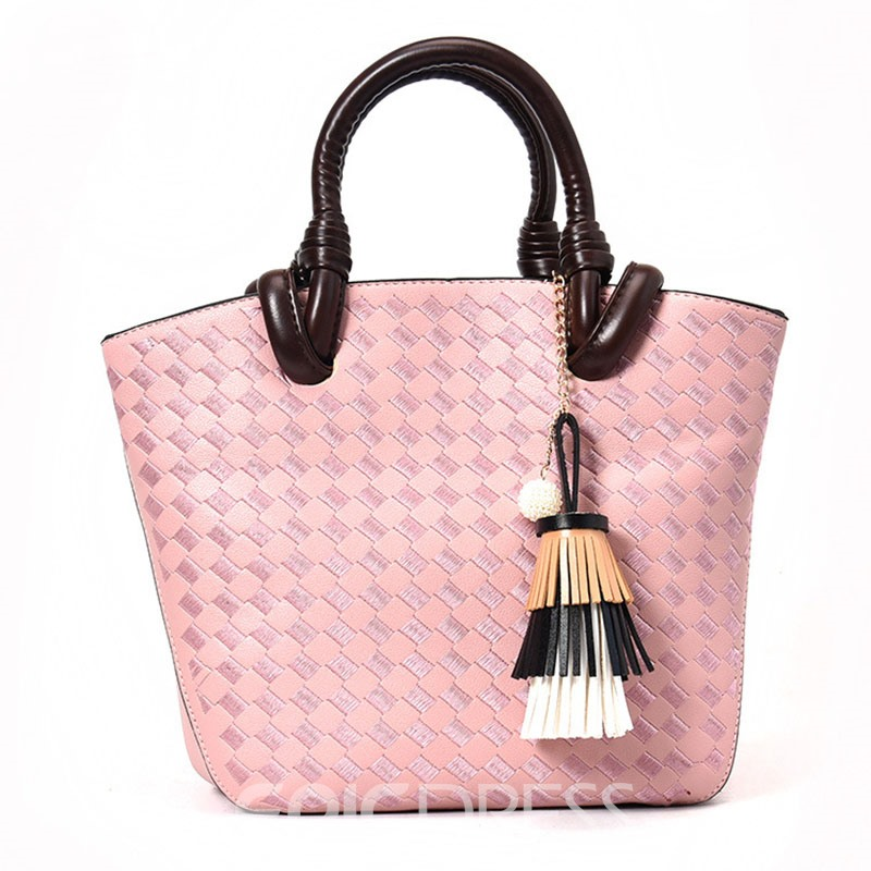 Ericdress Concise Knitted Pattern Women Tote
