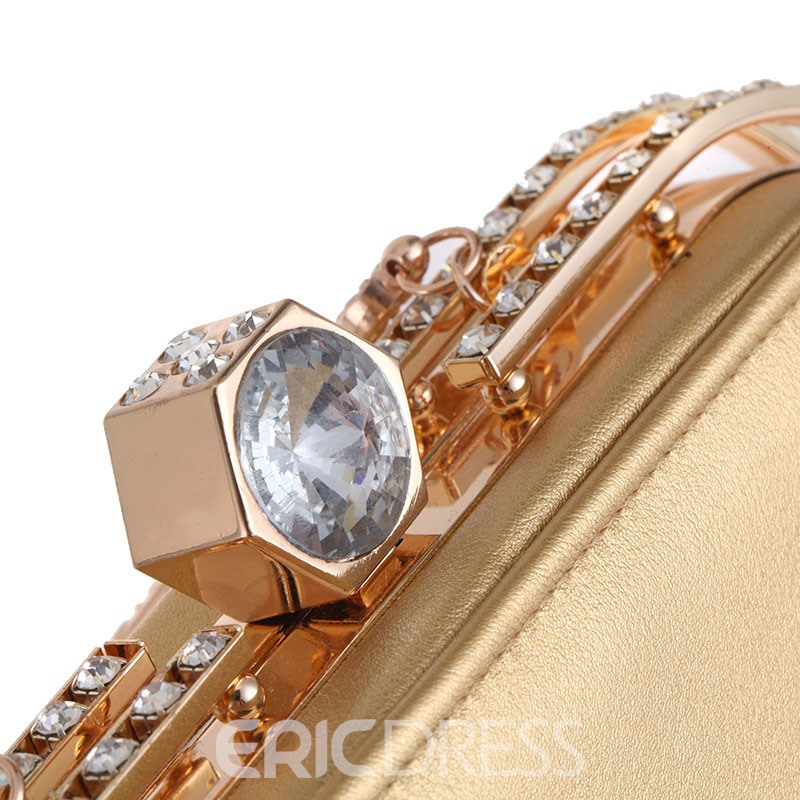 Erircdress Elegant Rhinestone Decoration Evening Clutch