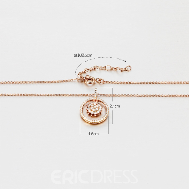 MarkChic Rose Gold Silver Pendant Necklace for Women