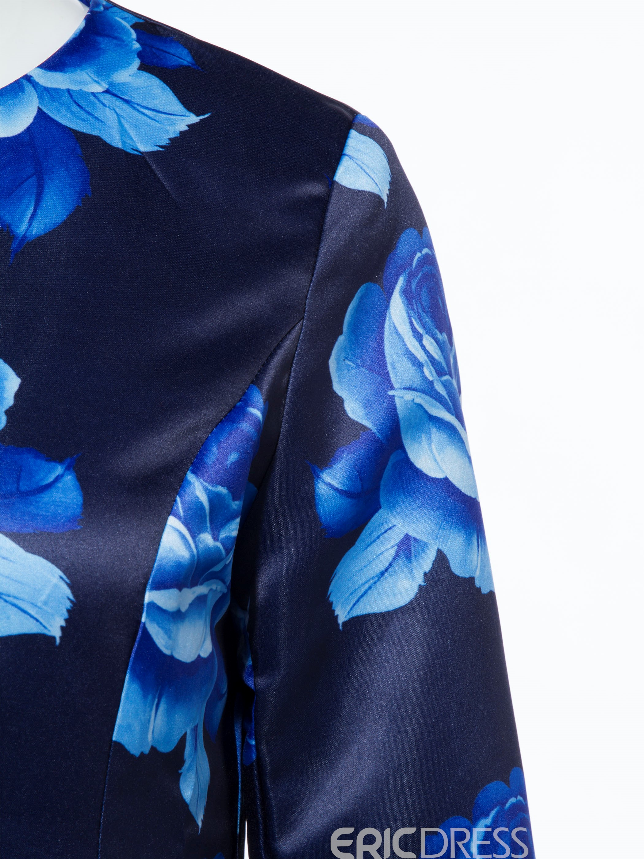 Ericdress Floral Print Single-Breasted Trench Coat