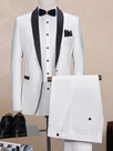 Ericdress Two-Piece of Color Block Lapel Men's Suit