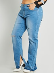 Ericdress Denim Slit Womens Jeans 13090795