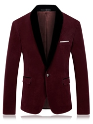 Ericdress Patched Lapel Vogue Slim Mens Blazer