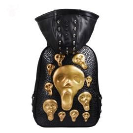 Ericdress Punk Style Skull Rivet Men's Hat Backpack