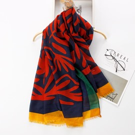 Ericdress Cotton Printed Long Cozy Scarf for Antumn & Winter