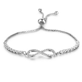 MarkChic Fully Jewelled Classic Adjustable Bracelet for Women