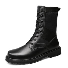 Ericdress Large Size Plain Mid-Calf Men's Martin Boots