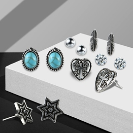 Ericdress Turquoise Jewelry Set for Women