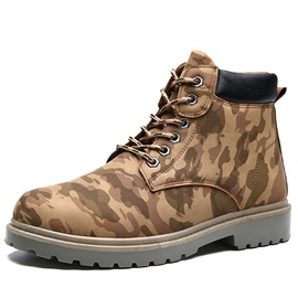 Ericdress Fashion Camouflage Lace-Up Men's Martin Boots