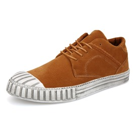 Ericdress Color Block Low-Cut Lace-Up Men's Casual Shoes