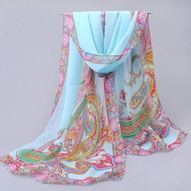 Ericdress India Style Chiffon Printed Scarf for Women