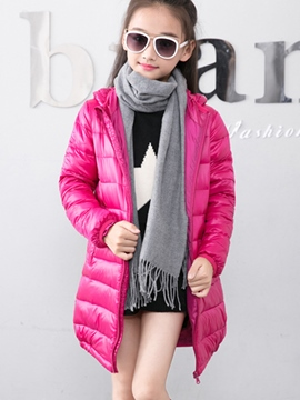 Ericdress Neutral Casual Thick Zipper Kids Down Coat