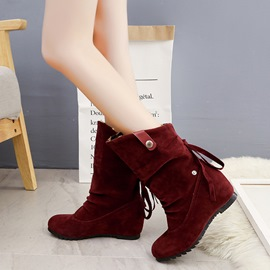 Ericdress Comfy All Match Slip-On Plain Flat Boots