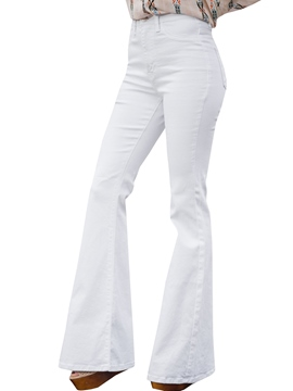 Ericdress Bellbottoms Pocket Washable Jeans