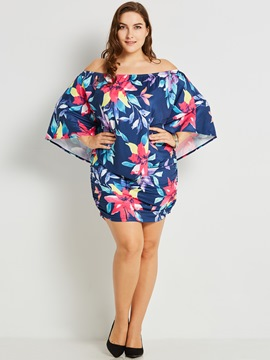 ericdress off-the-shoulder au-dessus de la robe à manches courtes bodycon