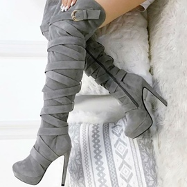 Suede Stiletto Heel Women's Boots