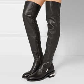 Ericdress Fashion Plain Beads Decorated Thigh High Boots