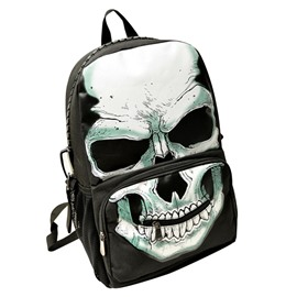 Ericdress Distinctive Skull Design Fluorescence Backpack