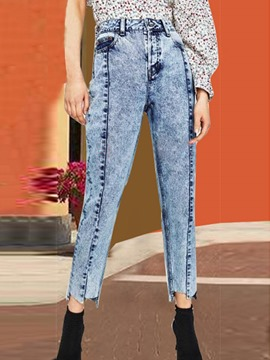 Ericdress Asymmetric Button Pocket Ankle Length Jeans