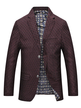 Ericdress Print Single-Breasted Casual Men's Winter Coat