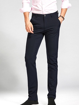 Ericdress Business Plain Mid-Waist Men's Pants