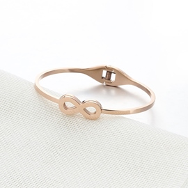Ericdress Titanium Steel Rose Gold Bracelet for Women