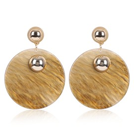 Ericdress Creative Circle Pendant Women's Earring