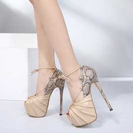 Ericdress New Arrival Peep Toe Platform Patchwork Prom Shoes