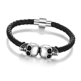 Ericdress Halloween Accessories Skull Stainless Knitting Bracelet for Men
