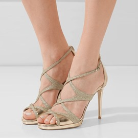Ericdress Strappy Hasp Open Toe Stiletto Sandals