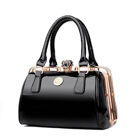 Ericdress Fashion Patent Leather Pillow Handbag