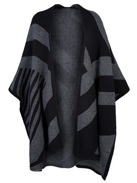 Ericdress Color Block Stripe Wrapped Cape