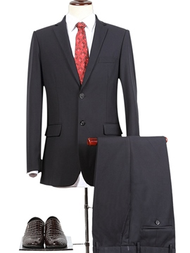 Ericdress Plain Single-Breasted Lapel Slim Men's Suit