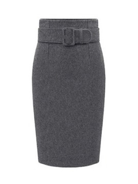 Ericdress High-Waist Thick Women's Skirt