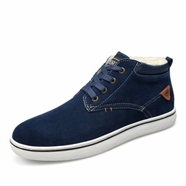 Ericdress Round Toe Mid-Cut Plain Men's Casual Shoes