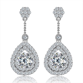 MarkChic High End Fully Jewelled Drop Earring for Women