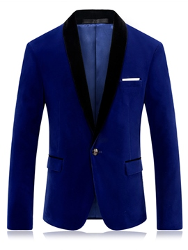 Ericdress Patched Lapel Vogue Slim Men's Blazer