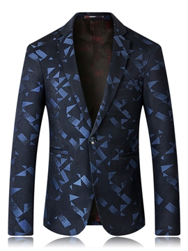 Ericdress Lapel Slim Print Men's Blazer