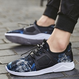Ericdress Print Elastic Band Color Block Men's Athletic Shoes