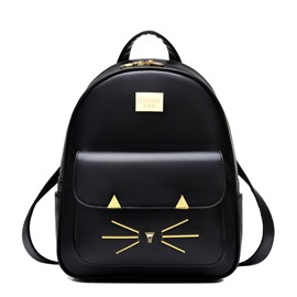 Ericdress Preppy Chic Kitty Pattern Women Backpack