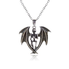 Ericdress New Style Bat Skull Pendant Halloween Necklace