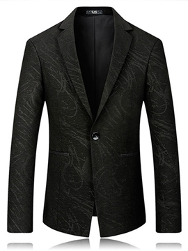Ericdress One Button Lapel Print Men's Blazer