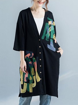 Ericdress Thin Loose Letter Single-Breasted Cape