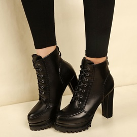 Ericdress Cross Strap Platform Plain High Heel Boots